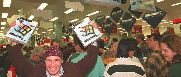 Šťastný chlapík s Windows 95