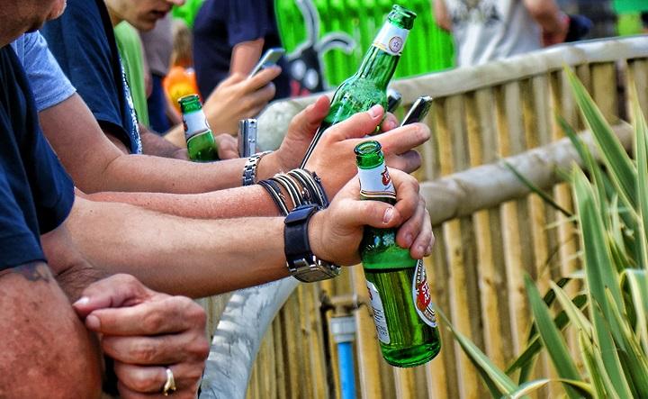 Študenti na pivku